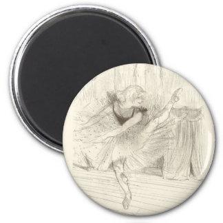 The Ballet Dancer, Toulouse-Lautrec Fridge Magnet