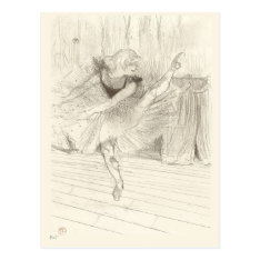 The Ballet Dancer, Toulouse-lautrec Postcard at Zazzle