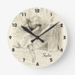 The Ballet Dancer, Toulouse-lautrec Round Clock at Zazzle