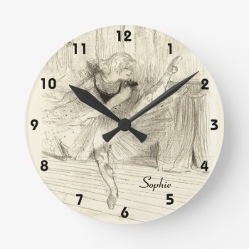 The Ballet Dancer  Toulouse-lautrec Round Clock by DigitalDreambuilder at Zazzle