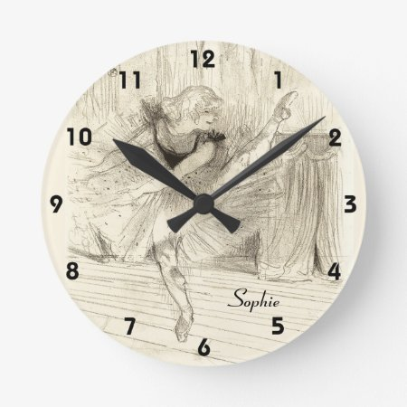 The Ballet Dancer, Toulouse-lautrec Round Clock