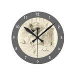 The Ballet Dancer, Toulouse-lautrec Round Clock at Zazzle