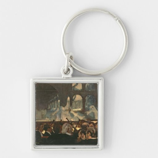 The ballet scene from Meyerbeer's opera Silver-Colored Square Keychain