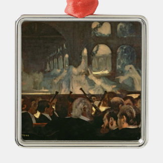 The ballet scene from Meyerbeer's opera Square Metal Christmas Ornament