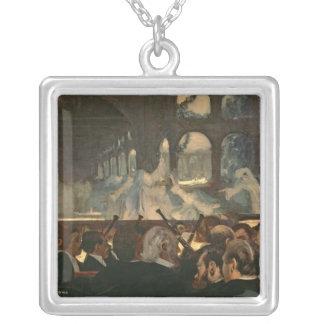 The ballet scene from Meyerbeer's opera Square Pendant Necklace