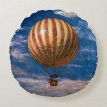 The Balloon, 1878 Round Pillow