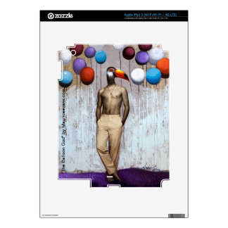 """The Balloon God"" by artist Maurice Evans iPad 3 Skins"