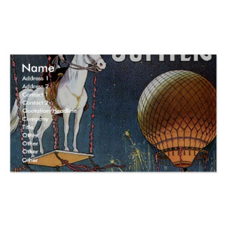The Balloon Horse Jupiter Vintage Theater Business Card
