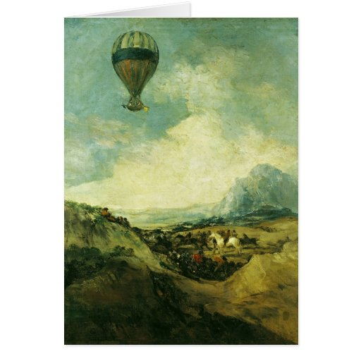 The Balloon or, The Ascent of the Montgolfier Greeting Card