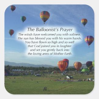 The Balloonist's Prayer Stickers