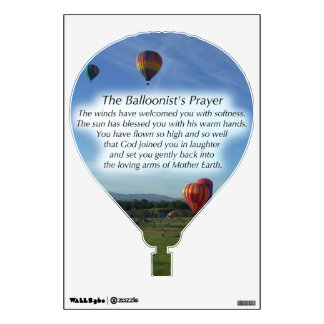 The Balloonist's Prayer Wall Decal
