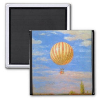 The Baloon by Pal Szinyei Merse Fridge Magnets