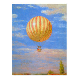 The Baloon by Pal Szinyei Merse Postcard