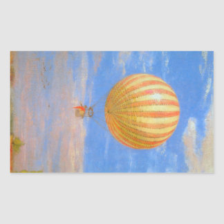 The Baloon by Pal Szinyei Merse Rectangular Sticker