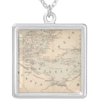 The Baltic Sea Square Pendant Necklace