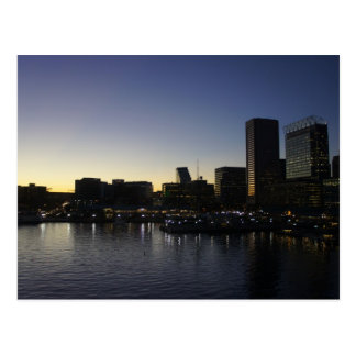 The Baltimore Inner Harbor at Night Postcard