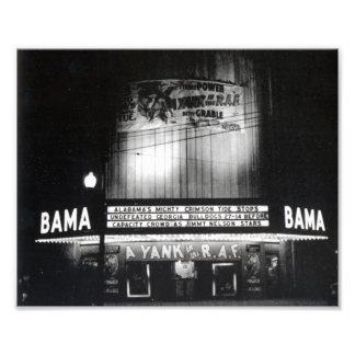 The Bama Theatre around 1942 Photo Print