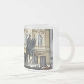 The Ban of Zagreb, Croatia Frosted Glass Mug