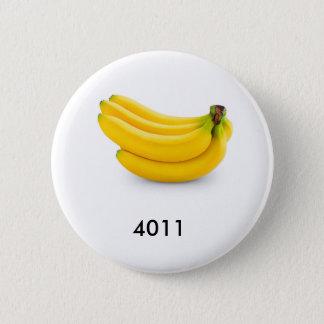 The bananas look good enough to eat. pinback button
