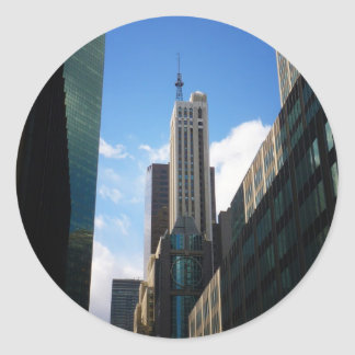The Banco Santander and Dumont Buildings, NYC Classic Round Sticker