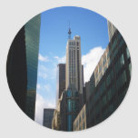 The Banco Santander and Dumont Buildings, NYC Round Sticker