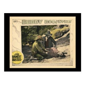 The Bandit Buster 1926 Vintage Silent Movie Poster Postcard