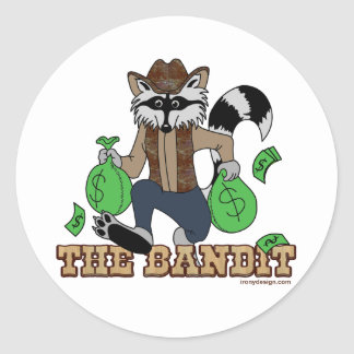 The Bandit Raccoon Classic Round Sticker