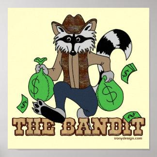 The Bandit Raccoon Poster