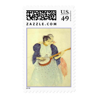 The Banjo Lesson, Mary Cassatt Postage