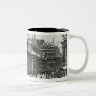 The Bank of England decorated for Queen Two-Tone Coffee Mug