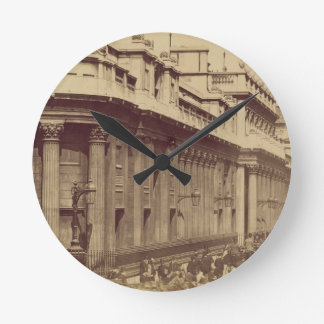 The Bank of England, London, c.1880 (sepia photo) Round Clocks