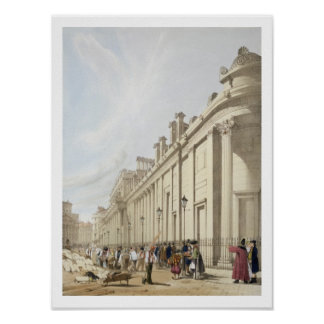 The Bank of England looking towards the Mansion Ho Poster