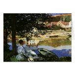 The Bank of the Seine, Bennecourt by Claude Monet Card