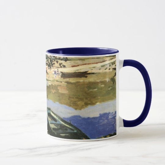 The Bank of the Seine, Bennecourt by Claude Monet Mug