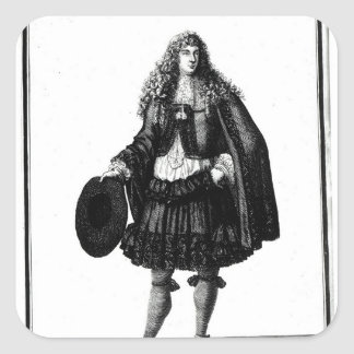 The Banker, 1678 Square Sticker