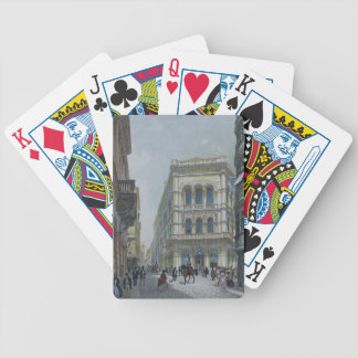The banking and stock exchange building bicycle playing cards