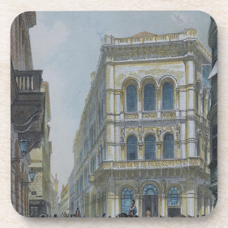 The banking and stock exchange building coaster