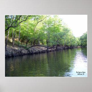 The Banks of Big Cypress Bayou Print