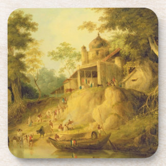 The Banks of the Ganges, c.1820-30 (oil on canvas) Drink Coaster