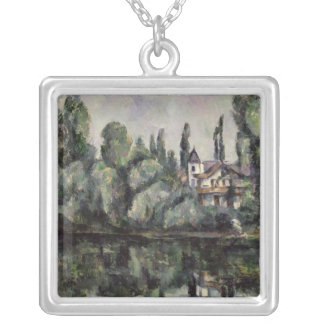 The Banks of the Marne, 1888 Silver Plated Necklace