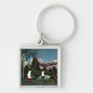 The Banks of the Oise, 1905 (oil on canvas) Keychain