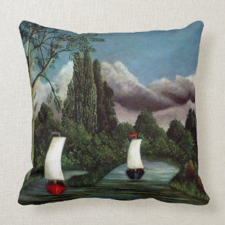 The Banks of the Oise, 1905 (oil on canvas) Throw Pillow