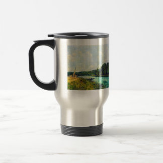 The banks of the Oise by Alfred Sisley 15 Oz Stainless Steel Travel Mug