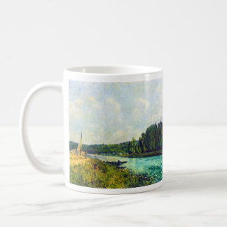 The banks of the Oise by Alfred Sisley Classic White Coffee Mug