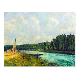 The banks of the Oise by Alfred Sisley Postcard