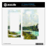 The banks of the Oise by Alfred Sisley Decal For LG Versa