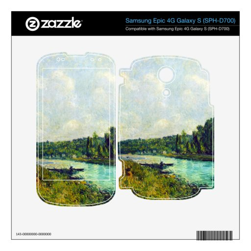 The banks of the Oise by Alfred Sisley Decals For Samsung Epic