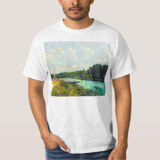 The banks of the Oise by Alfred Sisley T-shirt