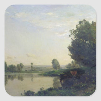 The Banks of the Oise, Morning, 1866 Square Sticker