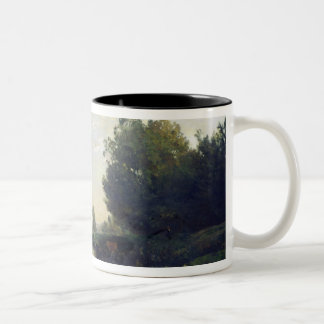 The Banks of the Oise, Morning, 1866 Two-Tone Coffee Mug